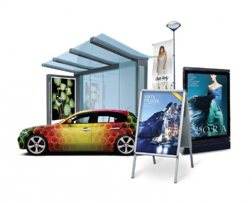 large format graphics latex indoor outdoor applications, eco solvent, vinyl, signage, canvas, banner, wallpaper, exhibitions, retail displays