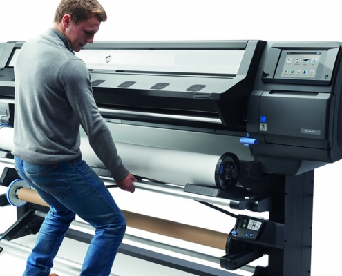 "HP Latex L365, 64""inch, large wide format latex printer cutter, outdoor print applications, vinyl, signage, solvent printer, banner, wallpaper, canvas"