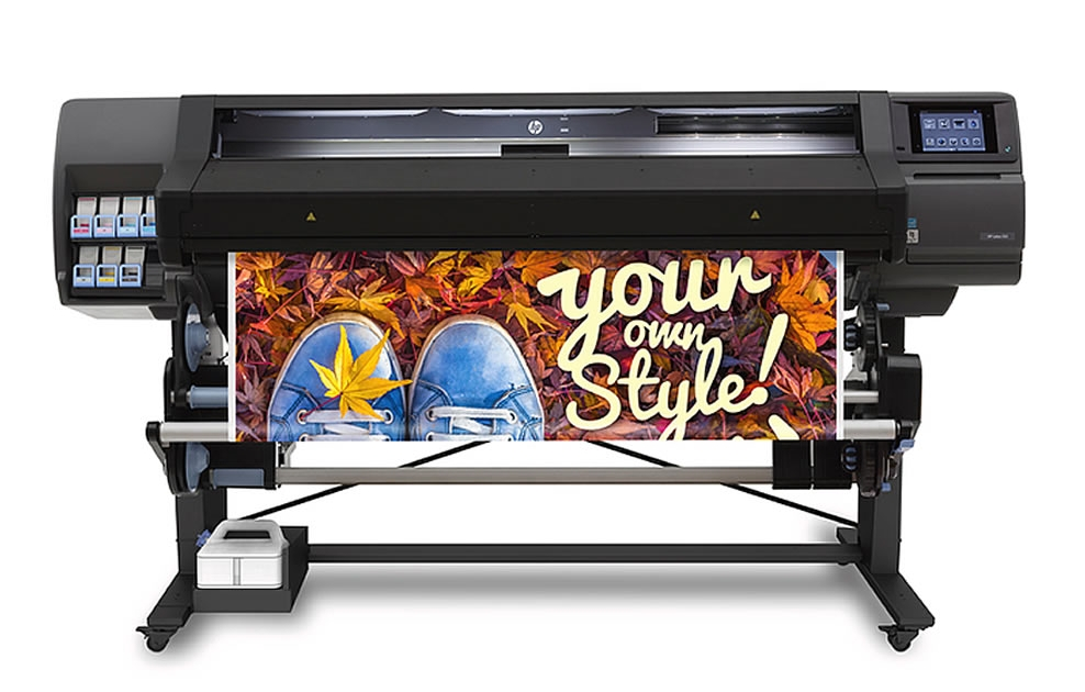 "HP Latex L560, 64""inch, large wide format latex printer cutter, outdoor print applications, vinyl, signage, solvent printer, banner, wallpaper, canvas"