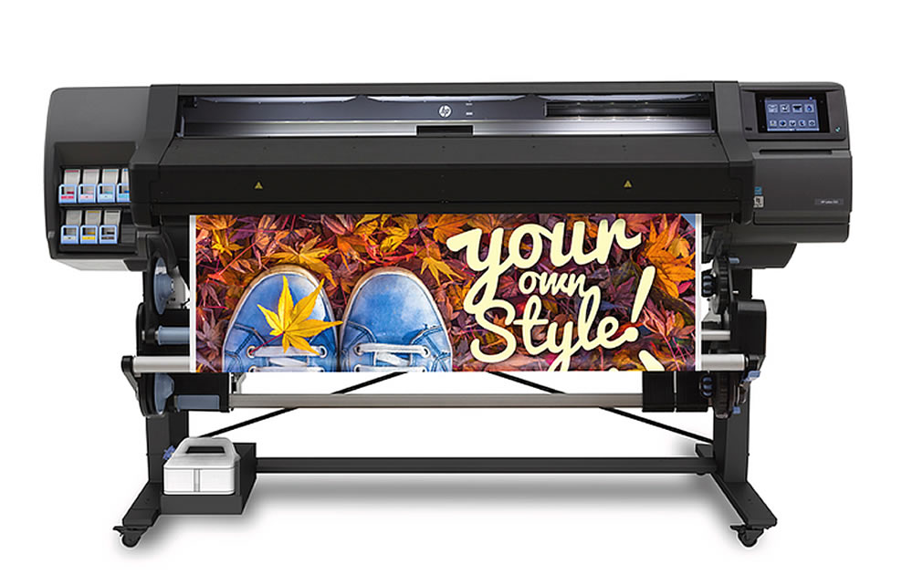 """HP Latex L560, 64""""inch, large wide format latex printer cutter, outdoor print applications, vinyl, signage, solvent printer, banner, wallpaper, canvas"""