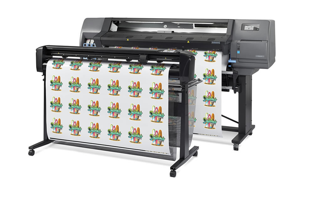 "HP Latex L115, 54"", large wide format latex printer cutter, outdoor print applications, vinyl, signage, solvent printer, banner, wallpaper, canvas"
