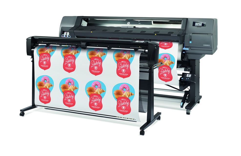 "HP Latex L335, 54""inch, large wide format latex printer cutter, outdoor print applications, vinyl, signage, solvent printer, banner, wallpaper, canvas"
