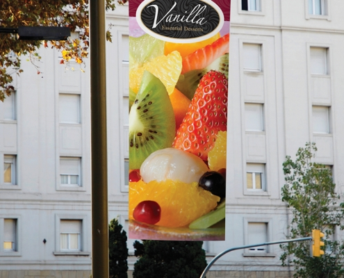 large format graphics latex outdoor applications, eco solvent, vinyl, signage, canvas, banner, wallpaper, exhibitions, retail displays