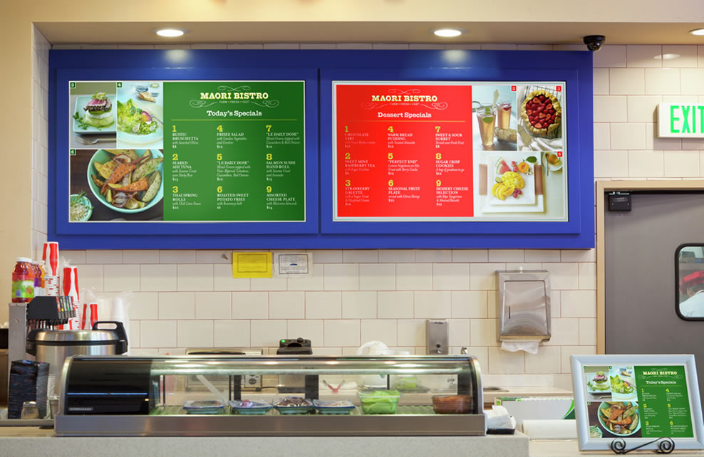 HP Z Series graphics printers create versatile signage using repositionable papers and vinyl